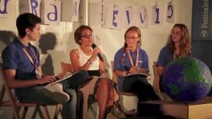 Michela Marzano intervistata a Mantova dai ragazzi di Blurandevù, Festivaletteratura 2013