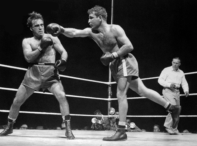 Marcel Cerdan and Jake LaMotta Boxing