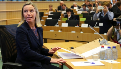 EU High Representative for Foreign Policy and Security Policy Mogherini attends her hearing before the EU Parliament's Committee on Foreign Affairs in Brussels
